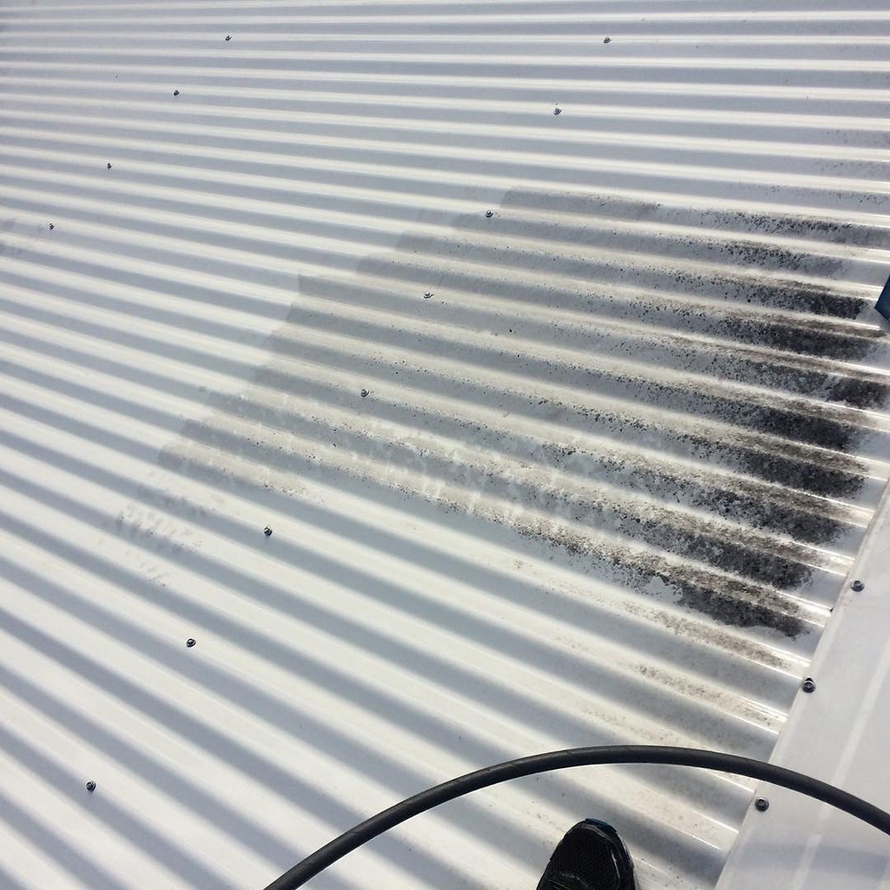 high pressure cleaning a perth colorbond roof