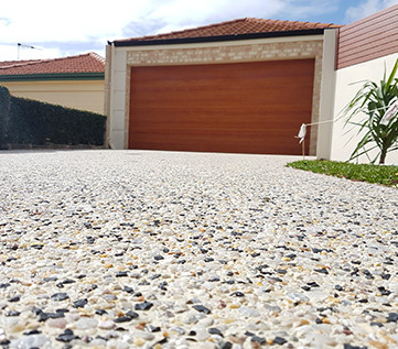 exposed aggregate driveway cleaning