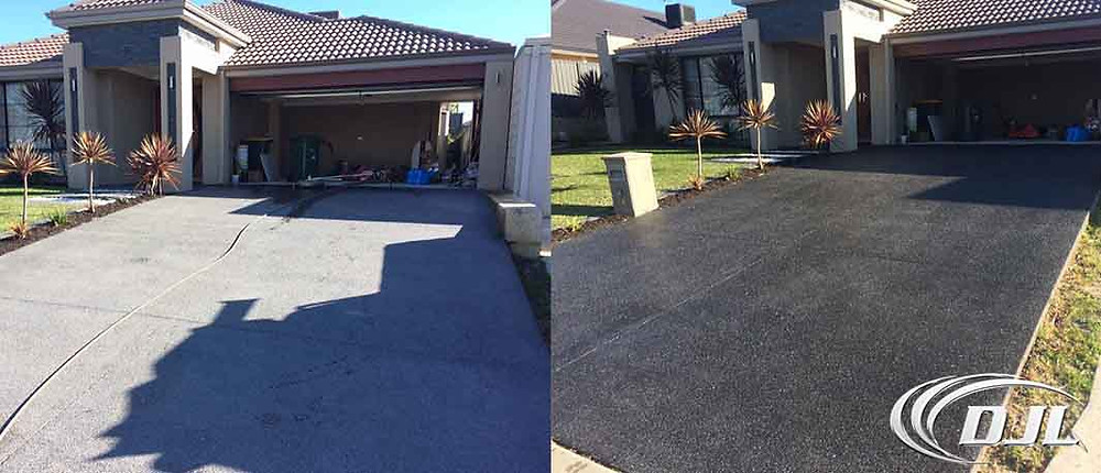 High pressure clean driveway on Perth
