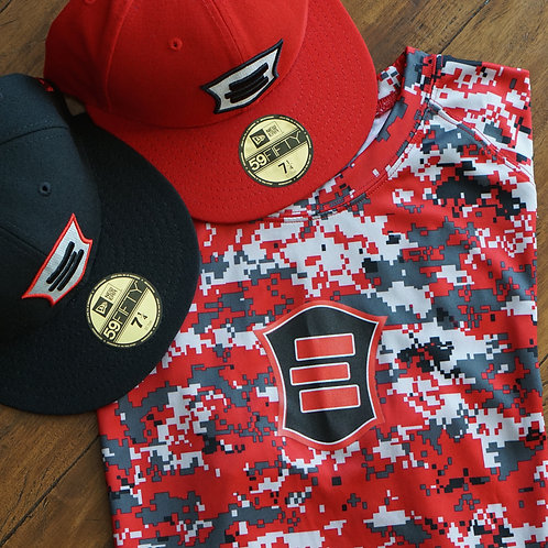 EG Red Digital Camo Short Sleeve T-Shirt