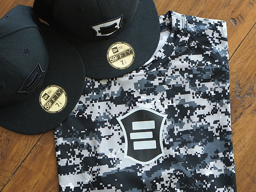 EG Black Digital Camo Short Sleeve T-Shirt