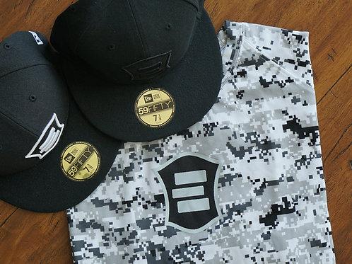 EG White Digital Camo Short Sleeve T-Shirt