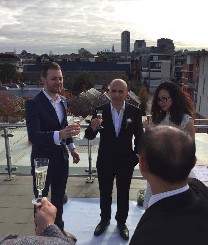 Best wedding celebrant in Melbourne Benn Stone