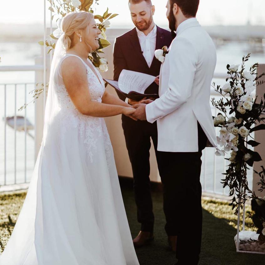celebrant wedding beach