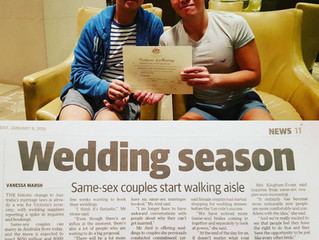 Melbourne's best gay and lesbian wedding celebrant!...here's proof :)