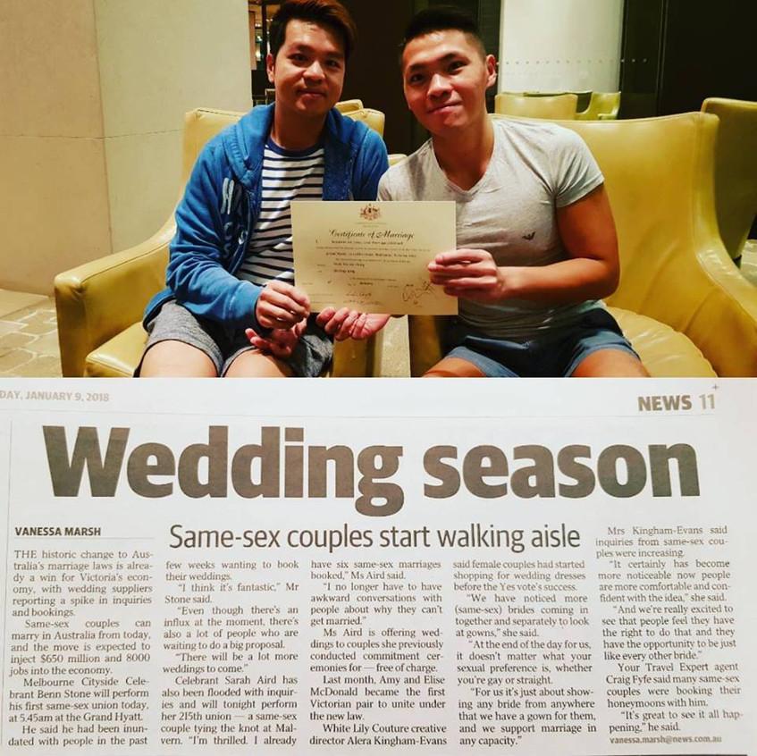 melbourne best gay and lesbian wedding marriage celebrant melbourne