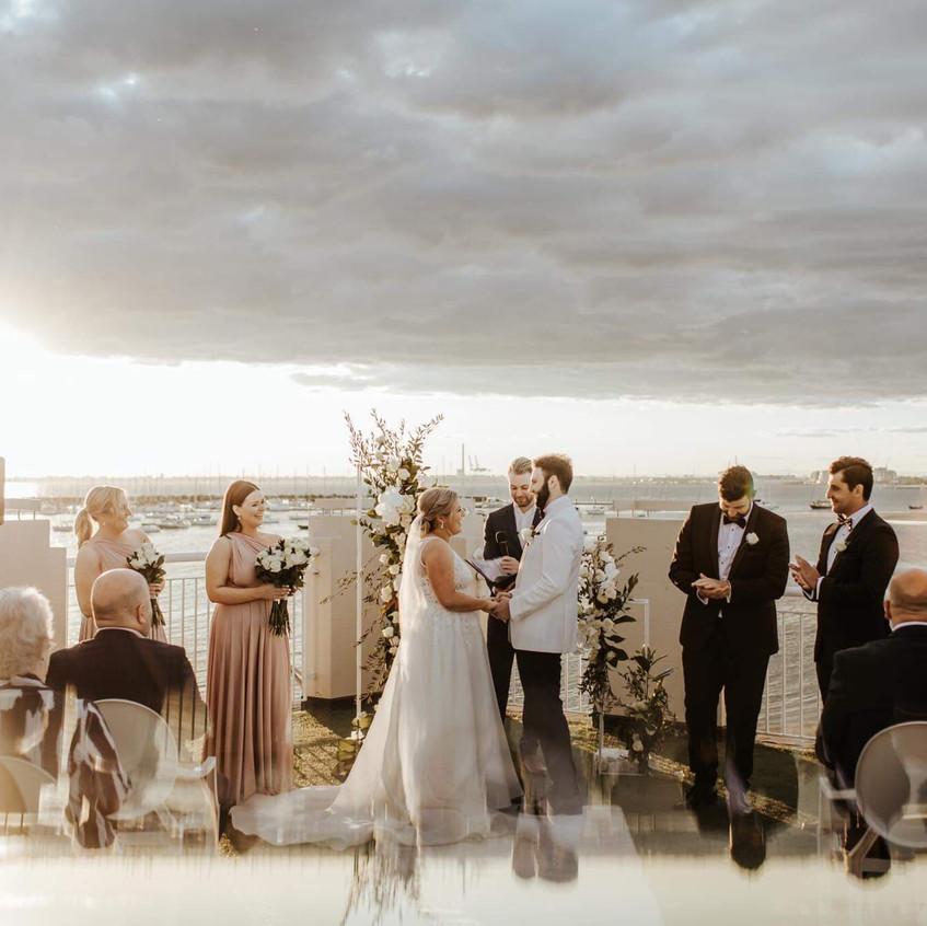 yacht club wedding celebrant