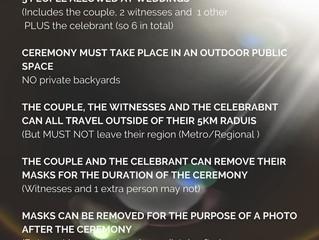 Small Weddings Melbourne Summer 2020