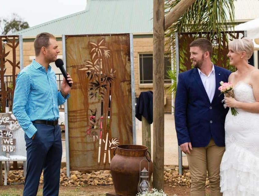 Melbourne celebrant's fun young weddings