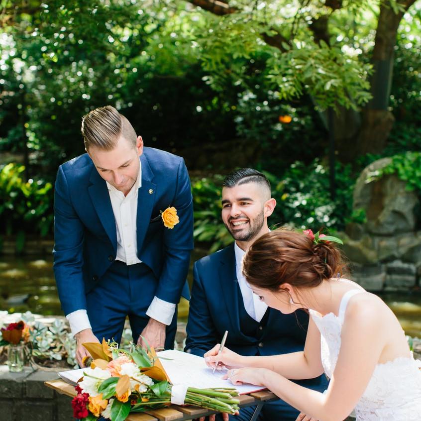 fitzroy and tresury gardens weddings celebrant melbourne cityside