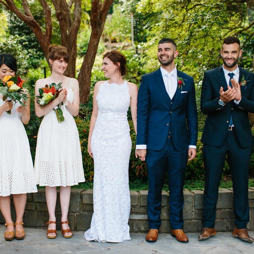 garden wedding celebrant melbourne botanical male