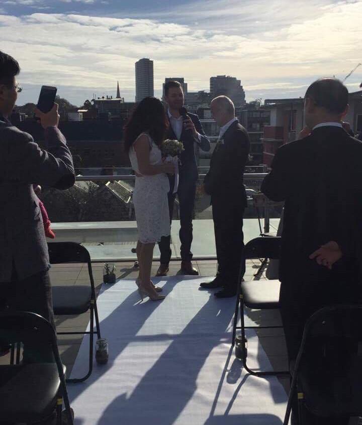 Melbourne Cityside Celebrant rooftop weddings Melbourne