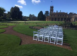 Werribee Mansion garden weddings