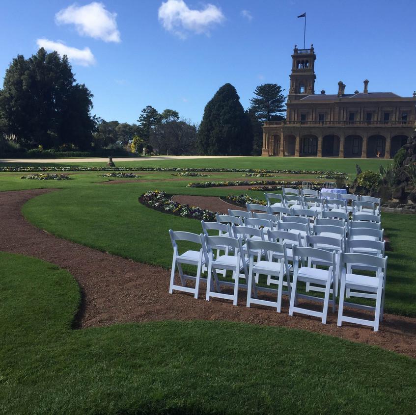 werribee mansion garden wedding celebrant melbourne