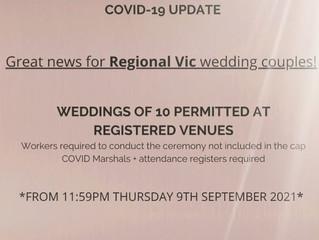 Celebrant and Wedding Restrictions Melbourne