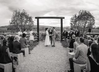 When a little rain can't stop a wedding!
