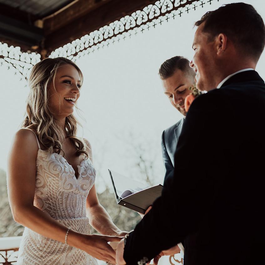 young wedding celebrants