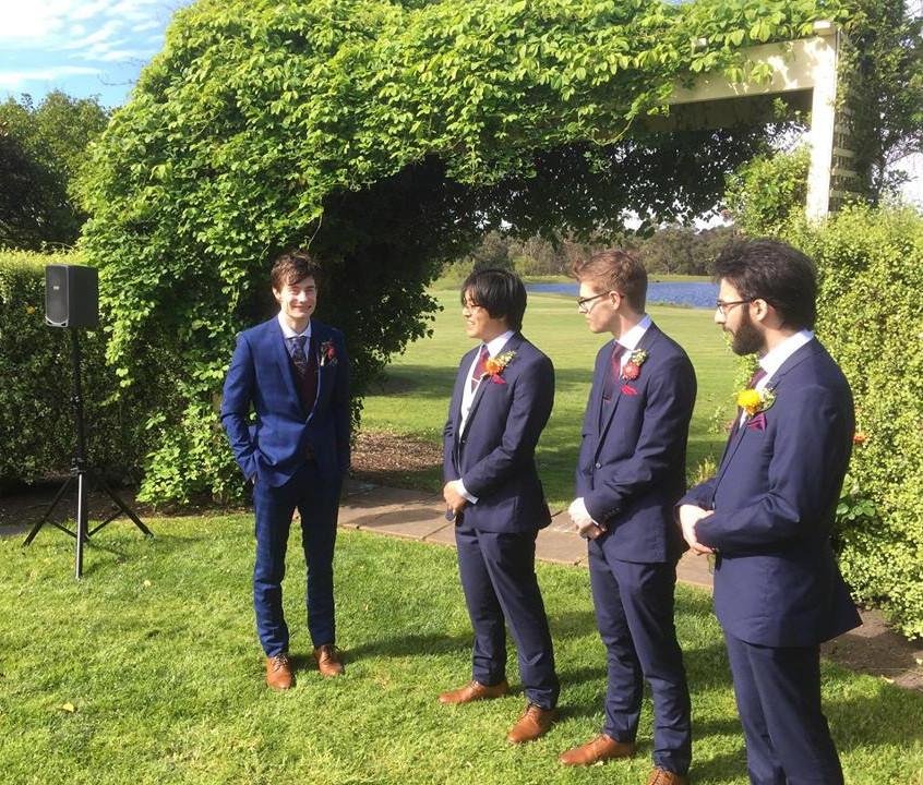 marriage celebrants melbourne male fun