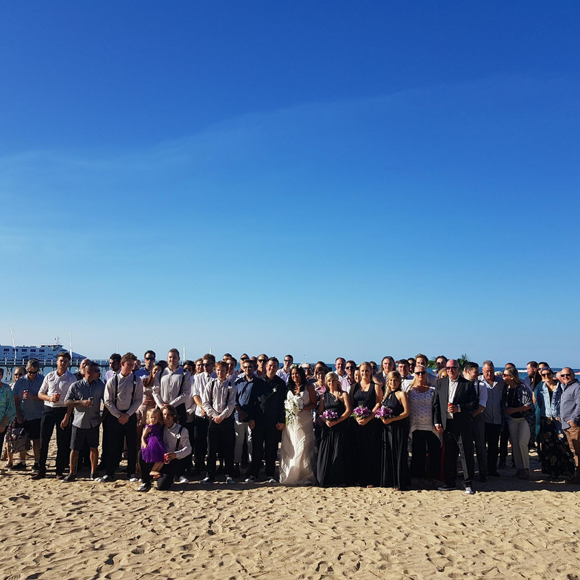 summer fun torquay beach weddin celebrant