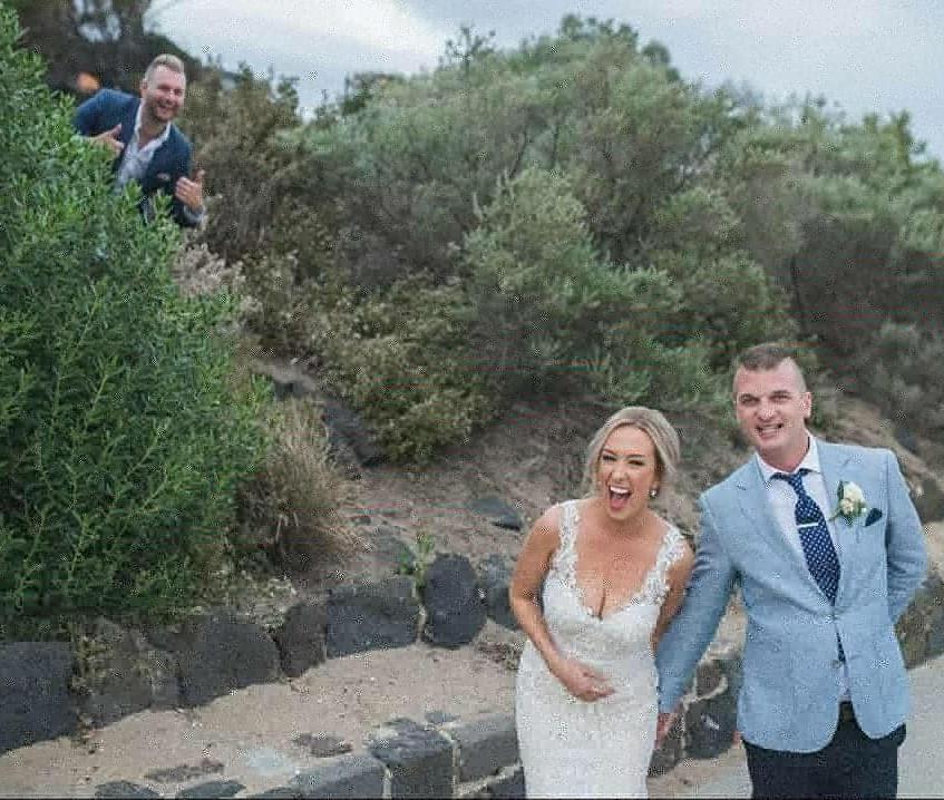 benn stone awesome weddding covid celebr