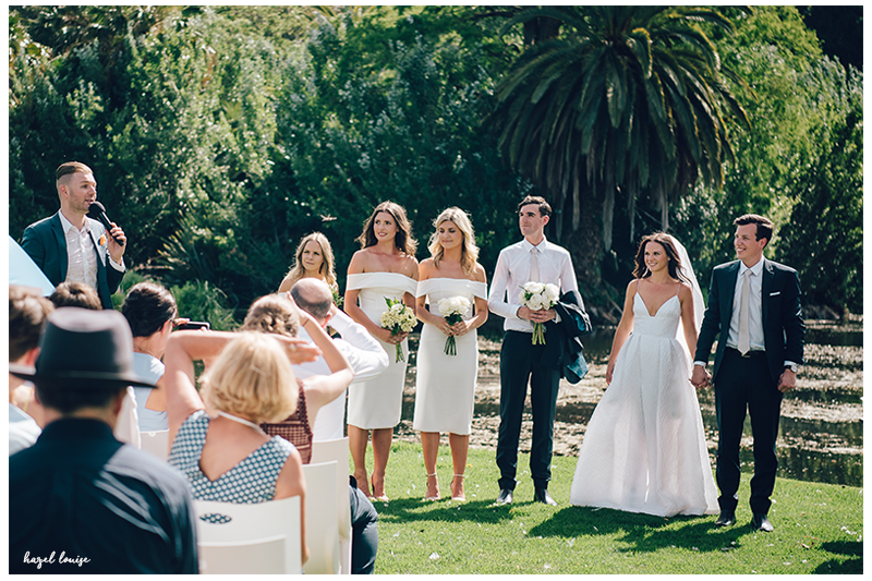 botanical gardens wedding celebrant