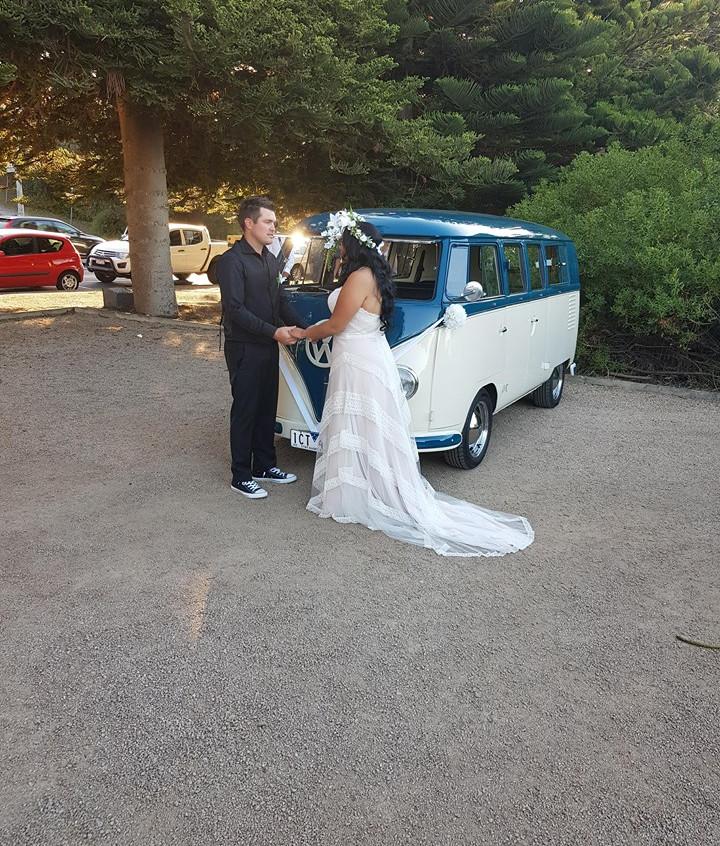 wedding kombi celebrant beach marriage