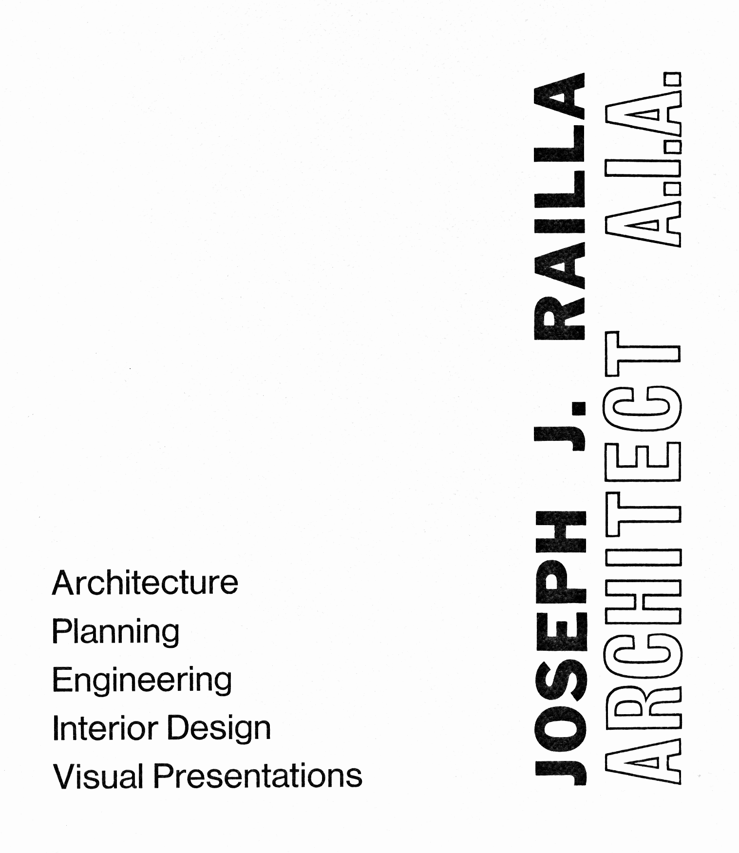 Joseph J. Railla Architect A.I.A.