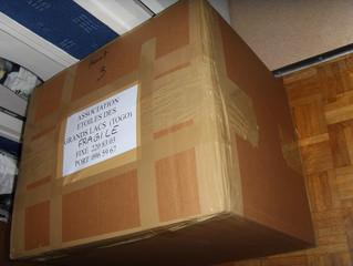2009 : don de matériel