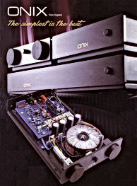 Original ONIX AUDIO Brochure from 1988