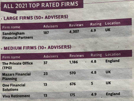 Viva One of The Times Top Rated Equity Release Advisers from VouchedFor