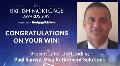Winner of Later Life Lending Broker