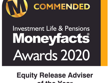 Investment Life & Pensions Moneyfacts Awards 2020 - Equity Release Adviser of the Year​
