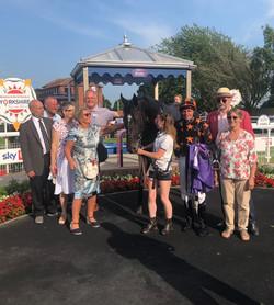 Ionian Sea and members in the winners enclosure at Beverley