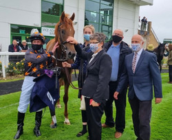 Johnny Boom, Paul and members in the winners enclosure at Yarmouth
