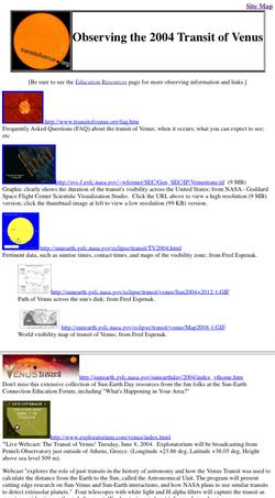 Observing the 2004 Transit of Venus