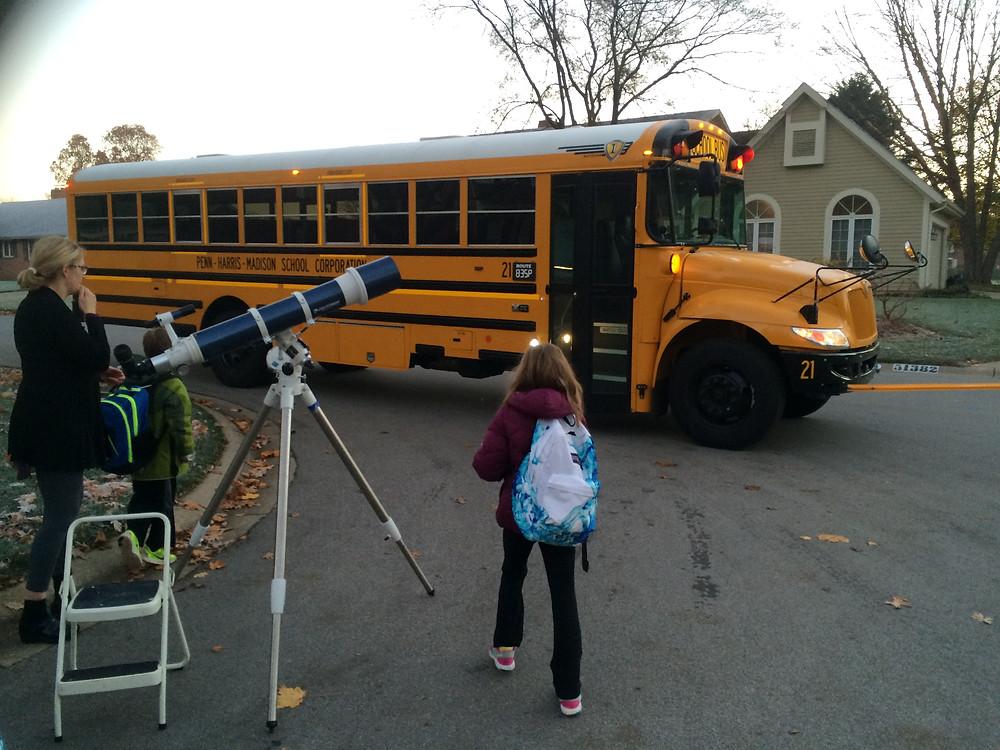 Bus stop astronomy