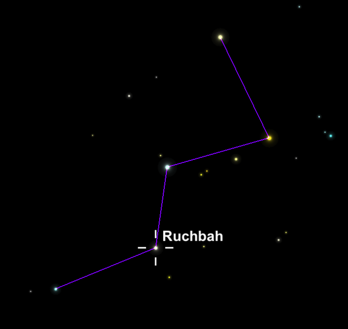 Ruchbah, the Centennial Star of the National Park Service, in the constellation Cassiopeia; http://www.nightwise.org/#!Star-of-the-National-Park-Service/c17jj/563d5f7f0cf275e9c59b9e7a