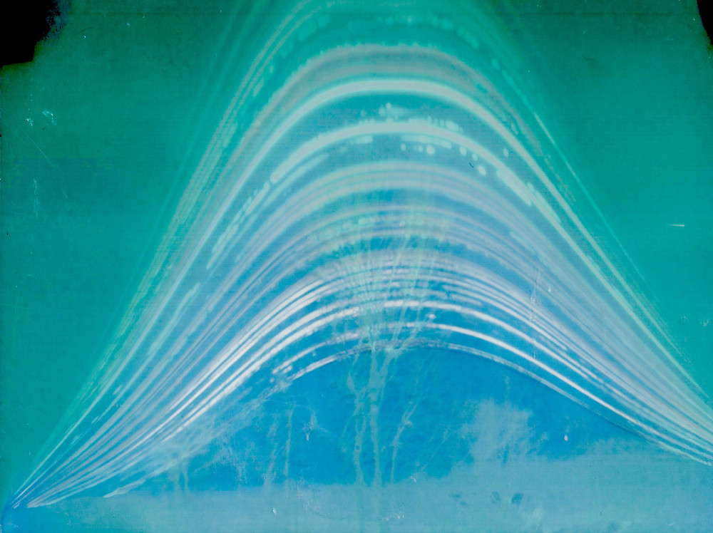 Solargraph from 2019 December solstice to 2020 June solstice; image by Chuck Bueter.