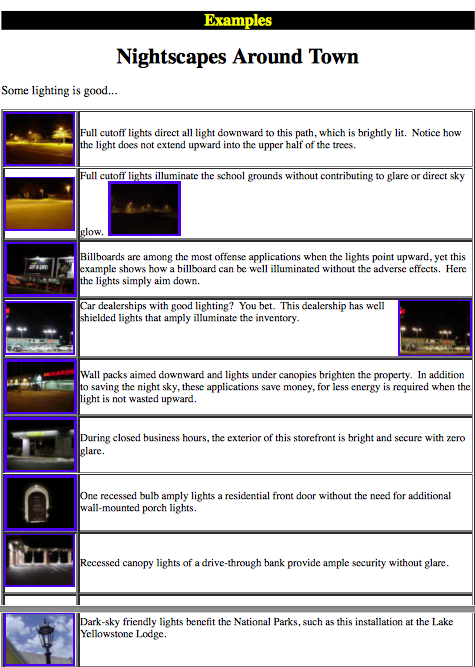 Examples of Lighting