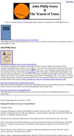 John Philip Sousa & The Transit of Venus
