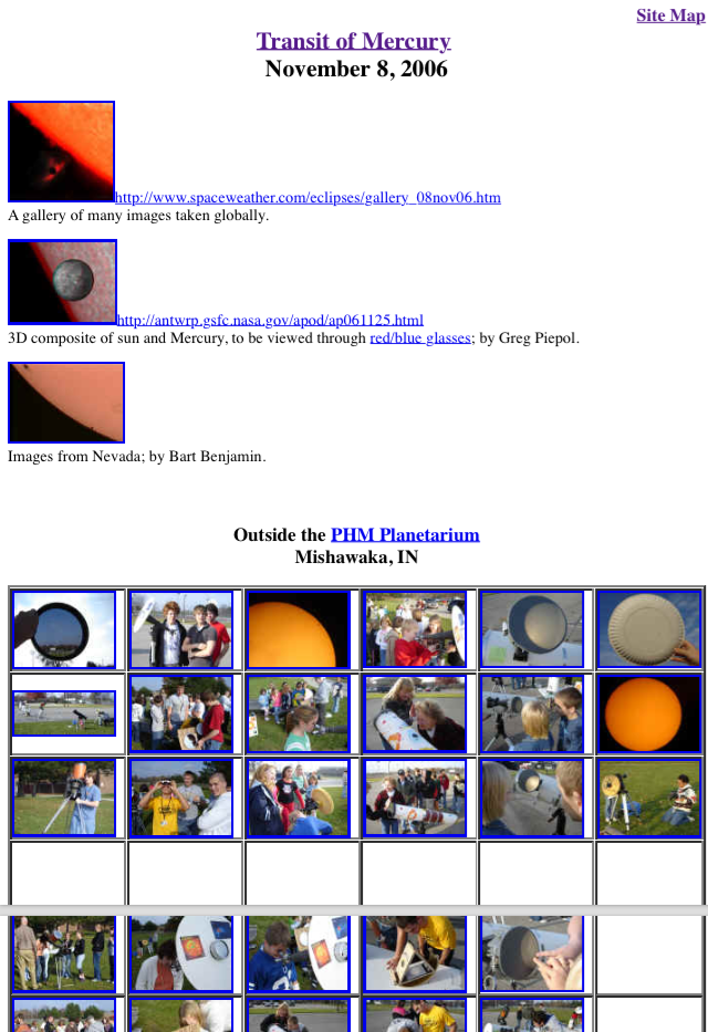 2006 Transit of Mercury--Images