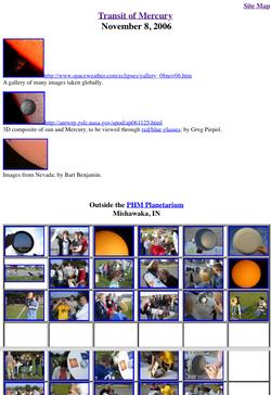 2006 Transit of Mercury--Images