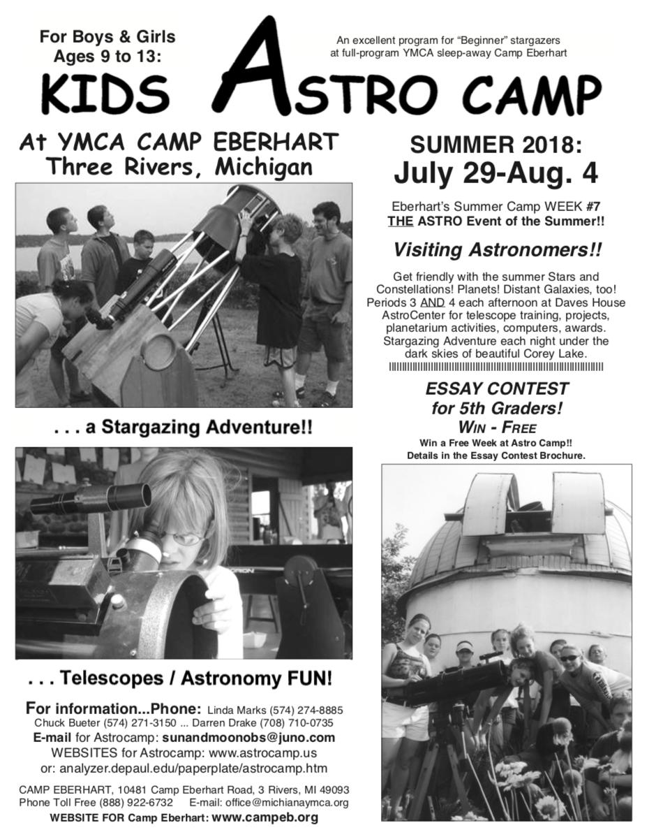 2018 AstroCamp flyer