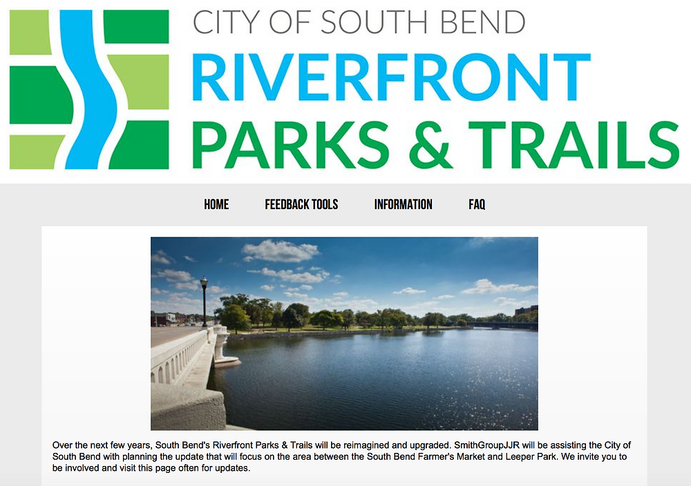 Home page for Riverfront Parks & Trails