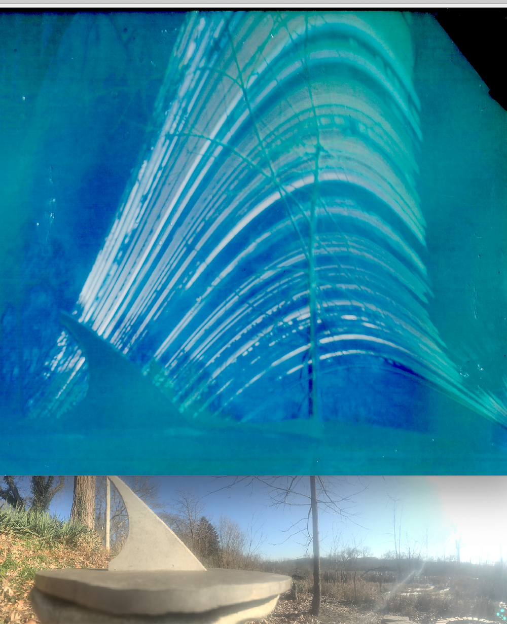 Sundial solargraph paired with panorama