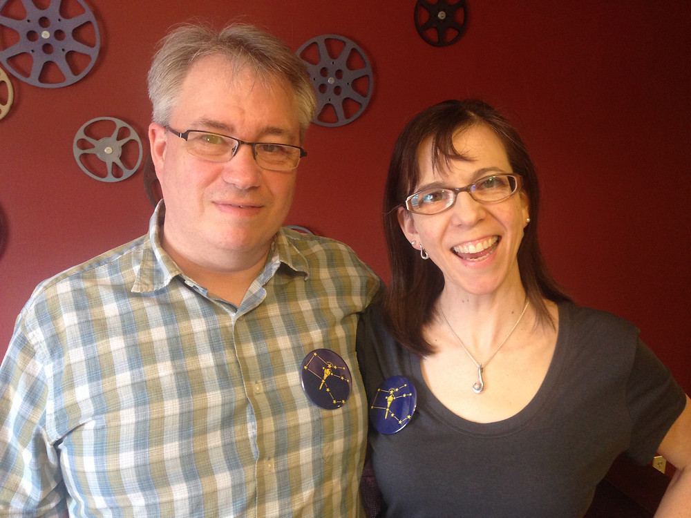 Donnie and Andrea Rogers wearing Indiana Bicentennial Star buttons.