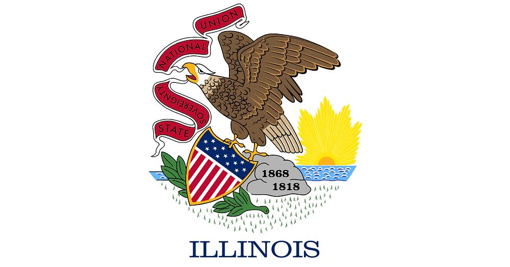Illinois banner with stars