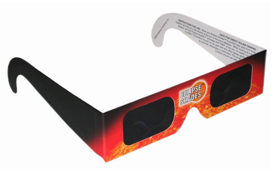 Eclipse shades for safe viewing of the sun.
