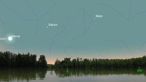String of Planets at Sunrise
