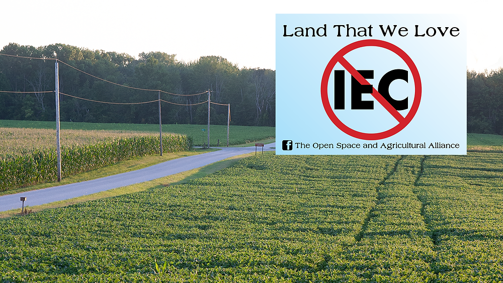 Open Space and Agricultural Alliance sign: No IEC